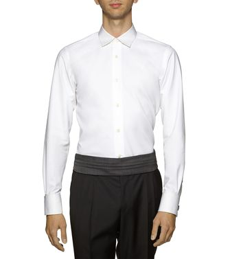 ERMENEGILDO ZEGNA: Formal Shirt Green - 38323619IP