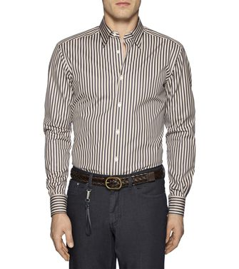 ERMENEGILDO ZEGNA: Casual Shirt Dark brown - 38323621JM