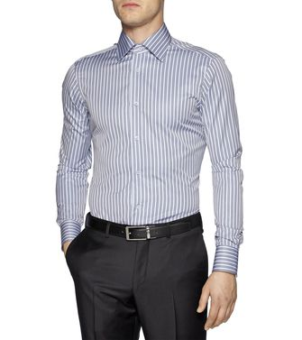 ERMENEGILDO ZEGNA: Formal Shirt Blue - 38323639RT