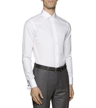 ERMENEGILDO ZEGNA: Formal Shirt Grey - Brown - 38323642SL