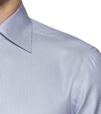 ERMENEGILDO ZEGNA: Formal Shirt Blue - 38323643PI