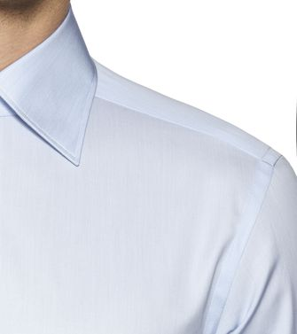 ERMENEGILDO ZEGNA: Formal Shirt Azure - 38323645WM