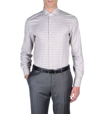 ERMENEGILDO ZEGNA: Camisa formal Marrón - 38323646ST