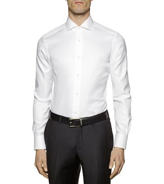 ERMENEGILDO ZEGNA: Formal Shirt Azure - 38323648DF