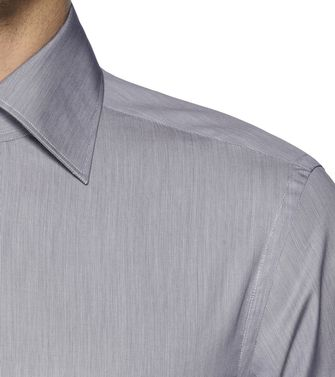 ERMENEGILDO ZEGNA: Formal Shirt Blue - Khaki - 38323649RH