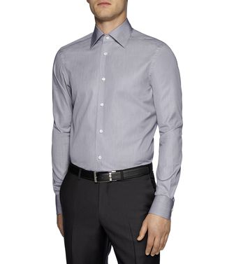 ERMENEGILDO ZEGNA: Formal Shirt Dark brown - 38323649RH
