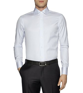 ERMENEGILDO ZEGNA: Formal Shirt Azure - 38323652MG