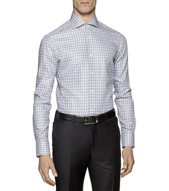 ERMENEGILDO ZEGNA: Formal Shirt Grey - Brown - 38323653SO