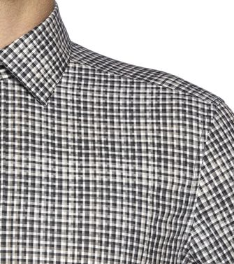 ZZEGNA: Camisa fashion Gris - Marrón - 38323656HR