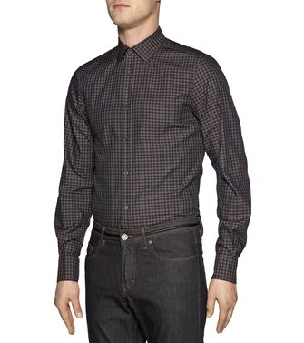 ZZEGNA: Camisa fashion Gris - Marrón - 38323658DG