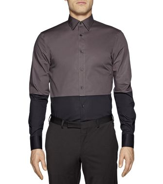 ZZEGNA: Chemise Fashion Anthracite - 38323659IF