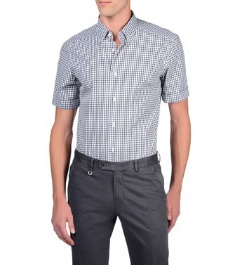ERMENEGILDO ZEGNA: Casual Shirt Grey - Brown - 38323660AP