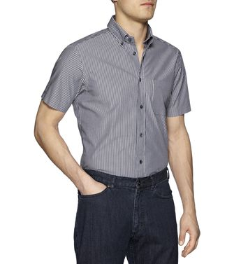 ZEGNA SPORT: Casual Shirt Grey - Steel grey - 38323669HR