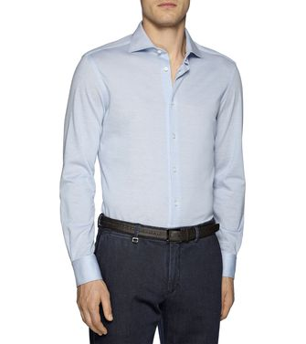 ERMENEGILDO ZEGNA: Casual Shirt Brown - 38324328DQ