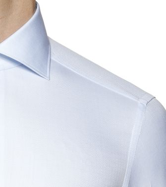 ERMENEGILDO ZEGNA: Formal Shirt Sky blue - 38324329PP