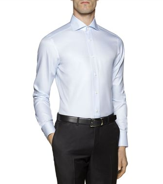 ERMENEGILDO ZEGNA: Formal Shirt Blue - 38324329PP