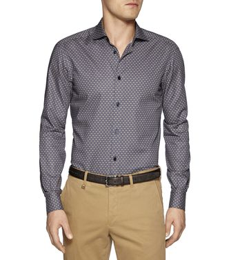 ERMENEGILDO ZEGNA: Casual Shirt Steel grey - 38324330OE