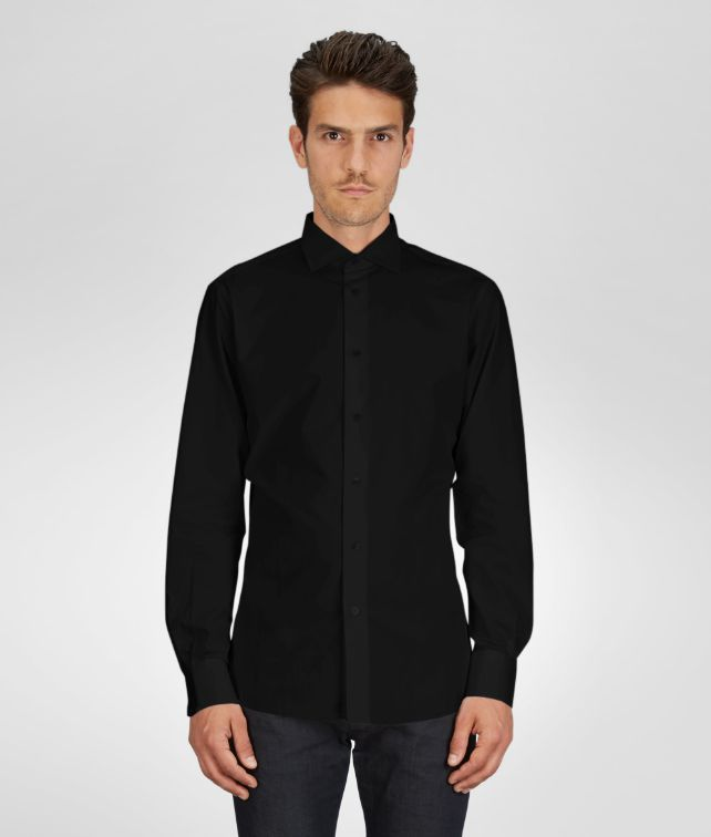 BOTTEGA VENETA SHIRT IN NERO COTTON Polo And Tee U fp