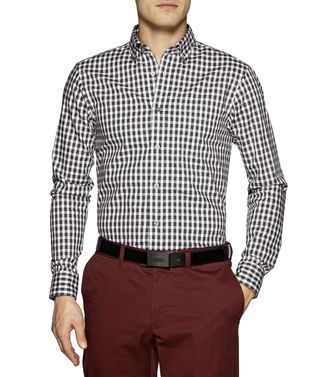 ZEGNA SPORT: Casual Shirt Grey - Brown - 38325546NT