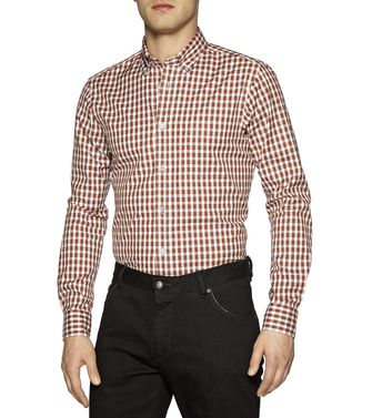 ZEGNA SPORT: Casual Shirt Grey - Brown - 38325546WP