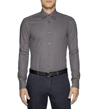 ERMENEGILDO ZEGNA: Casual Shirt Khaki - Blue - 38326144MP