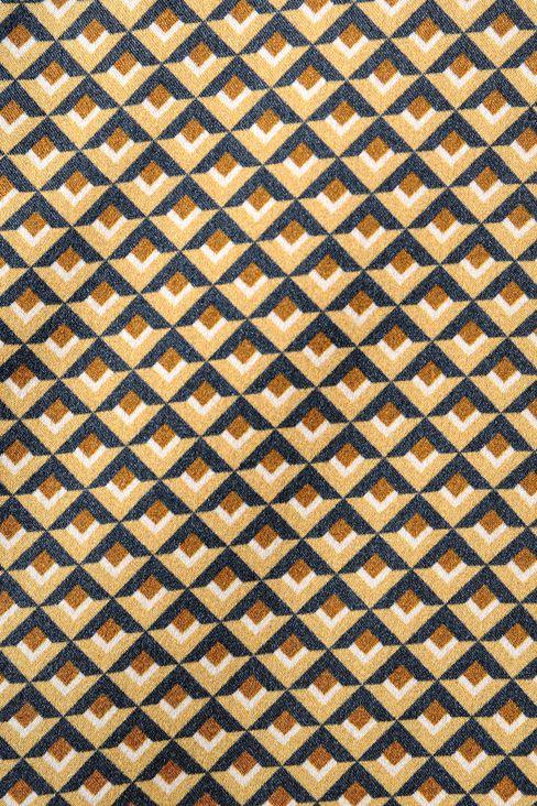 GEOMETRIC-PRINT SILK TOP: Blouses Women by Armani - 4