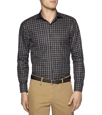 ERMENEGILDO ZEGNA: Casual Shirt Dark brown - 38327052JN