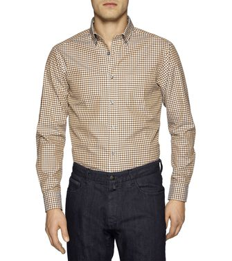 ZEGNA SPORT: Casual Shirt Dark brown - 38328264BD
