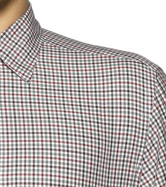 ERMENEGILDO ZEGNA: Casual Shirt Grey - Brown - 38328456OD