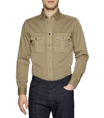 ZEGNA SPORT: Casual Shirt Grey - Brown - 38328876MV