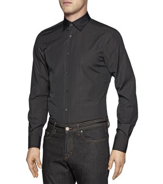 ZZEGNA: Chemise Fashion Anthracite - 38329768XI