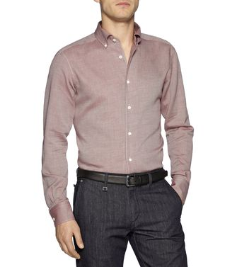 ERMENEGILDO ZEGNA: Casual Shirt Dark brown - 38331555BS