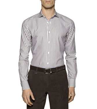 ERMENEGILDO ZEGNA: Casual Shirt Brown - 38332106CA