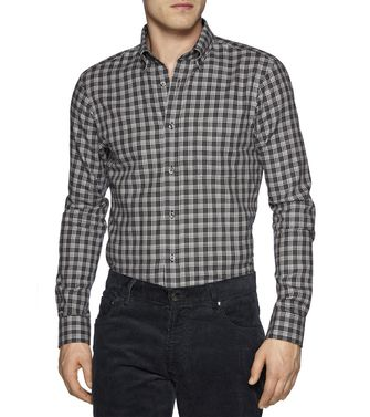 ZEGNA SPORT: Casual Shirt Grey - Steel grey - 38337036NT