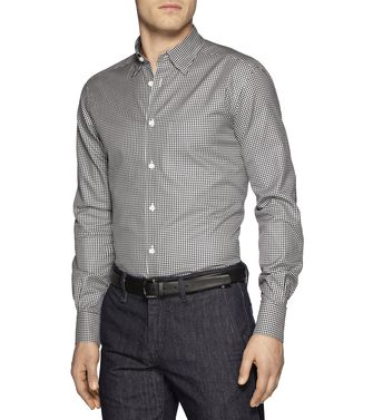 ERMENEGILDO ZEGNA: Casual Shirt Grey - Brown - 38337183XX