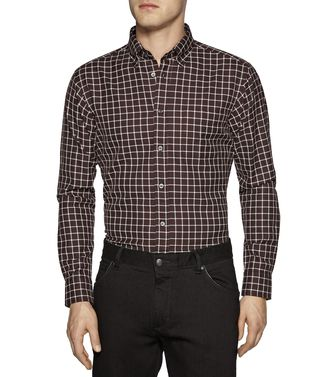 ZEGNA SPORT: Casual Shirt Grey - Brown - 38339541EC