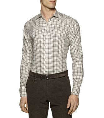 ERMENEGILDO ZEGNA: Casual Shirt Dark brown - 38344067EM