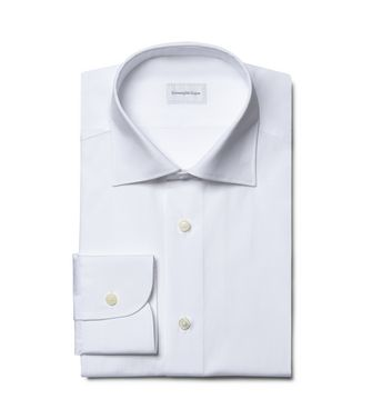 ERMENEGILDO ZEGNA: Camisa formal Blanco - 38352068MF