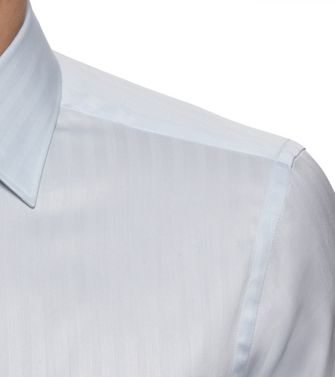 ERMENEGILDO ZEGNA: Formal Shirt Grey - Steel grey - 38352070DL