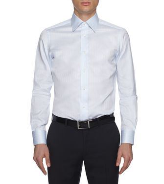 ERMENEGILDO ZEGNA: Formal Shirt Brown - 38352070DL