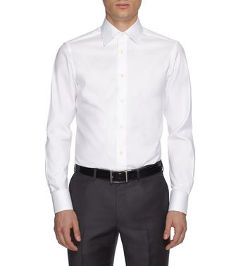 ERMENEGILDO ZEGNA: Formal Shirt Khaki - Blue - 38352071GK