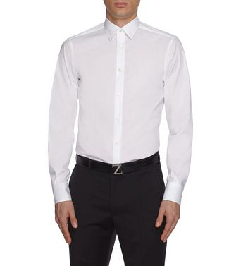 ZZEGNA: Formal Shirt Black - 38352073FG