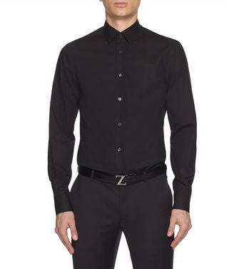 ERMENEGILDO ZEGNA: Formal Shirt Black - 38352075QC
