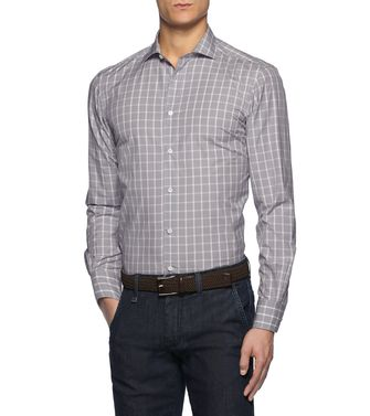 ERMENEGILDO ZEGNA: Casual Shirt Light grey - 38352691CL