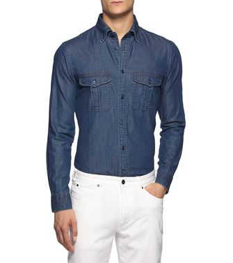 ZEGNA SPORT: Casual Shirt Blue - 38352859JO