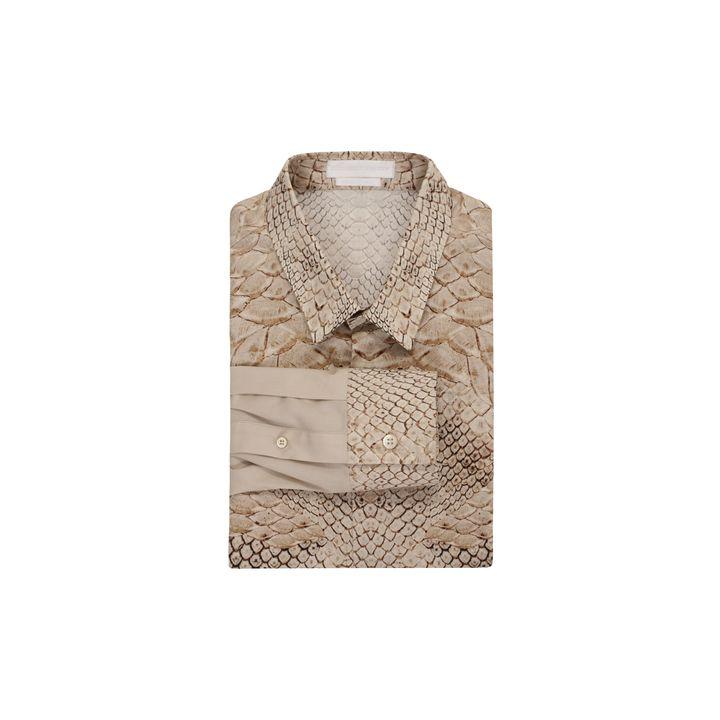 Alexander McQueen, Morphing Python Print Long Sleeve Shirt
