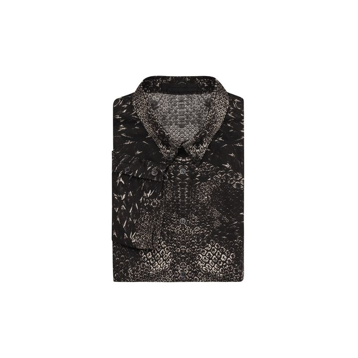 Alexander McQueen, Morphing Python Print Short Sleeve Shirt