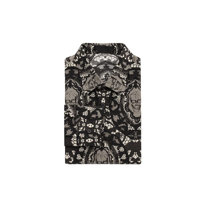 Alexander McQueen, Skull Lace Long Sleeve Shirt