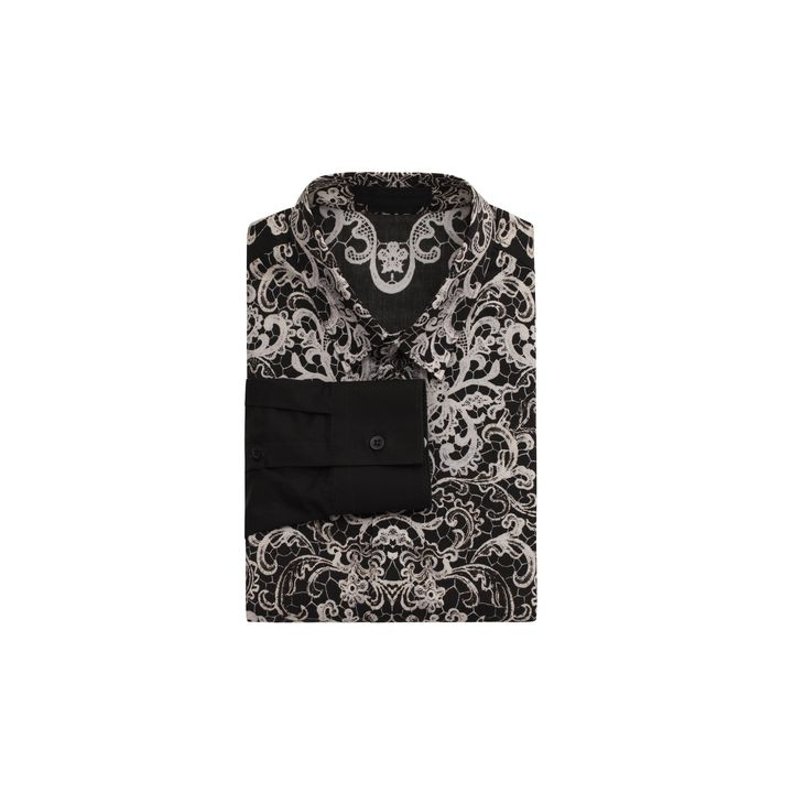 Alexander McQueen, Lace Print Long Sleeve Shirt