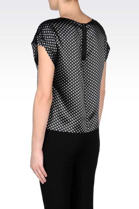 SILK POLKA-DOT BLOUSE: Blouses Women by Armani - 3